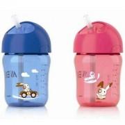 Детска, неразливаща се чаша със сламка 260 мл. Philips Avent, налични 2 цвята, 079778