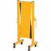 Vestil Aluminum Expanding Safety Gate with Casters, Model ALEXGATE-30-C