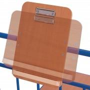 VARIOfit Schreibtafel aus Holz DIN A4 Format hoch