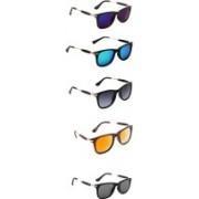 Aoking Wayfarer Sunglasses(Violet, Blue, Grey, Orange, Black)