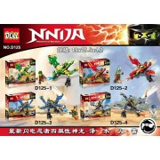 Ninjagoes Flying Dragon 4 in 1 Lepin Building Blocks Compatible with Lego Batman 2017 Bricks Toys for Children