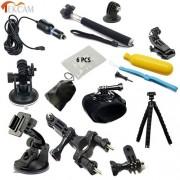 YOINS® SJCAM SJ5000 Ensemble d'accessoires Ensemble à bicyclette Aspirateur Porte-trépied Porte-aimant pour sjcam original SJ4000 SJ5000 M10 M20