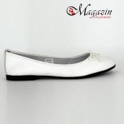 Sandale dama din piele naturala - Alb cu Bleumarin - T1 AB