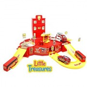 Little Treasures State fire station Toy - 911 Rush and Rescue There's nothing more fun than saving the day - good for little fire-men helpers