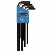 Nine-Piece Metric L-Wrench Hex Key Set, Long-Arm