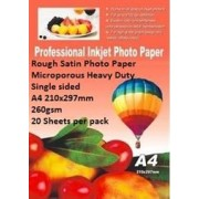 E-Box Rough Satin Photo Paper- Microporous Coated