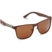 CAPRIO Retro Square Sunglasses(Brown)