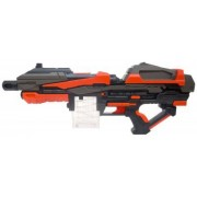 Wise Guys Raytheon Phantom Soft Bullet Cartridge Gun Large Size Battery Operated Toy Up to 45Ft Range Perfect Gift for Kids - Black & Red
