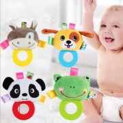 Los sonajeros mordedor Toy Grab Shaker Spin Rattle primeros