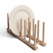 Dille&Kamille Etagère pour assiettes, bois de hêtre