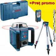 BOSCH GRL 400 H Nivela laser rotativa (400 m) + BT 152 Trepied + GR 2400 Rigla + Valiza