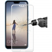 Para Huawei P20 Lite Tempered Glass Screen Film, Enkay Hat Príncipe Para Huawei P20 Lite 0.26mm 9h La Dureza De La Superficie Cubierta De Vidrio Templado 2.5D A Pantalla Completa Pantalla Color Film (blanco)