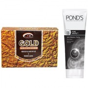 PINK ROOT GOLD KIT 83G WITH POND'S PURE WHITE ANTI POLLUTION FACE WASH 50G