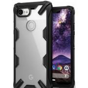 Protectie Spate Ringke Fusion X 8809628565210 pentru Google Pixel 3 XL (Transparent/Negru)