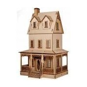 Melody Jane Dolls Houses House Miniature 1:24 Lazer Cut Abriana Country Cottage Flat Pack Kit