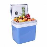 Хладилна чанта ZEPHYR ZP 1448 A24, 24 литра, 12V DC, Охлаждане и затопляне, Двойно захранване, Син