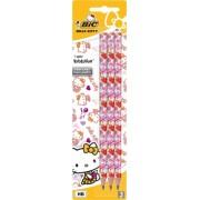 Creion grafit 3/set Evolution Hello Kitty Bic