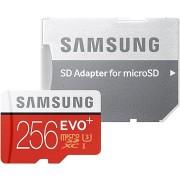 Samsung micro SDXC 256GB EVO Plus Class 10 UHS-I + SD adapter