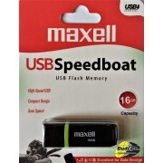 Maxell usb speedboat 2.0 black 16gb