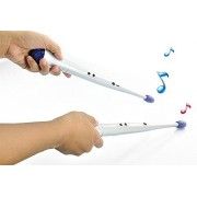 Anpress New Arrive Hot Set Of Creative And Portable Travel One Pair Of Electronic Rock Beat Rhythm Drum Sticks For Children Toy Musical Instrument (Silver)
