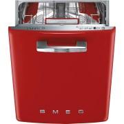 SMEG ST2FABRD kezelőszervig beépíthető retro mosogatógép - piros