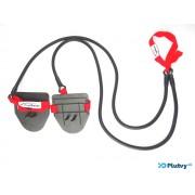 Posilňovacie plavecké gumy obtiažnosť: ťažká červená