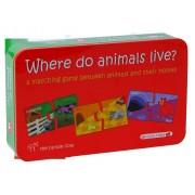 Puzzle Unde locuiesc animalele, 20 piese