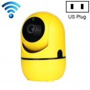 HD Cloud draadloze IP-camera intelligent auto tracking Human Home Security Surveillance netwerk WiFi camera plug type: US plug (720P Yellow)