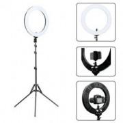 Lampa circulara led cu trepied geanta de transport, telecomanda si accesorii