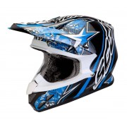 Scorpion VX-20 Air Win Win Casco cruzado Negro Blanco Azul XS