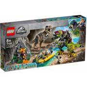 LEGO Jurassic World Lupta T. rex contra Dino-Mech No. 75938