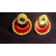 Thread Earrings Drop Dangle Jhumka Indian Handmade Jewelry