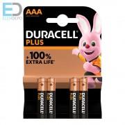 Duracell Plus MN2400 AAA LR03 alkáli micro elem Bl4
