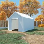 vidaXL Cort de depozitare, alb, 3 x 4 m, PE