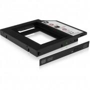"Raidsonic IcyBox IB-AC640 2,5"" HDD/SSD Notebook extension (9,5mm) Slim Black"