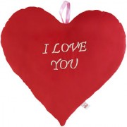 Ultra Valentine Heart Shape I Love You Red Cushion Pillow