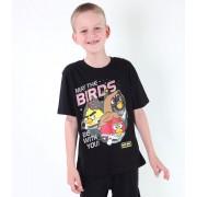 tričko chlapecké TV MANIA - Angry Birds / Star Wars - Black - SWAB 323