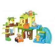 Jucarie Mega Bloks First Builders Swing & Slide Safari Building Set