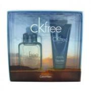 Calvin Klein Free 1.7 oz / 50 mL Eau De Toilette Spray + 3.4 oz / 100 mL After Shave Balm Gift Set Men's Fragrance 467748