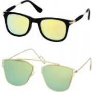 Stysol Wayfarer Sunglasses(Yellow, Green)