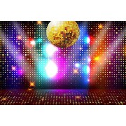 Zhyxia Zhy Disco Neon Backdrop for Photography 7X5FT Retro Colorful Stage Background Party Decor Supplies Photo Shooting Props 170