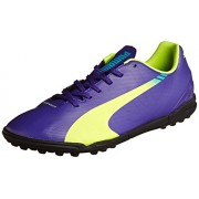 Puma Men's evoSPEED 5.3 TT Prism Violet, Yellow and Blue Football Boots - 10UK/India (44.5EU)