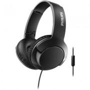 Слушалки с микрофон Philips BASS+ SHL3175BK