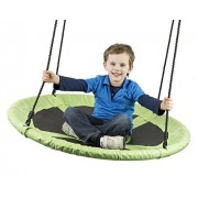 "Flying Squirrel Giant 40"" Swing - Saucer Tree Swing - Green by Squirrel Products"