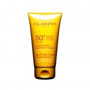 Clarins creme solaire anti rides visage crema solare antirughe viso spf 50+ 75 ml