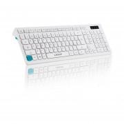 EY LESHP Chocolate ultra delgado teclado Wired Desktop Office Home Juegos Mute Slim-Blanco