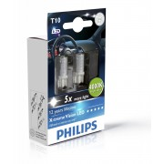 Set 2 Becuri Led W5W T10 Philips 4000k