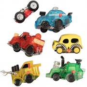 Wind Up Toy ehicle 6 Pack - Cars, Trucks, Space Shuttles, Bulldozer, And More - World's Greatest Windup Toys Great For Party Faors, Gift Bags