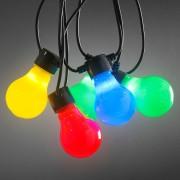 Beer Garden string lights 20 colour LED bulbs opal