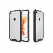 Funda Case Para Iphone 8 / Iphone 7 De Acrilico Transparente Con Contorno Suave - Negro
